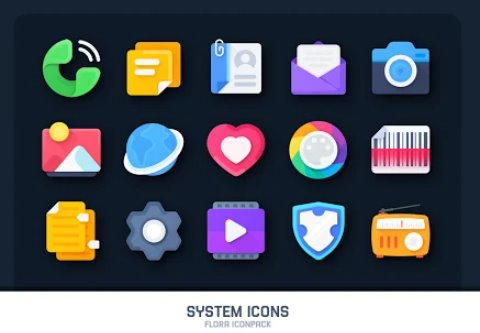 flora material icon pack APK Android
