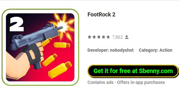 Footrock definición, 2 significado