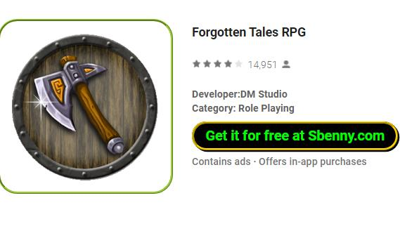 Forgotten Tales RPG v4 12 9 Free Shopping & Unlimited Money