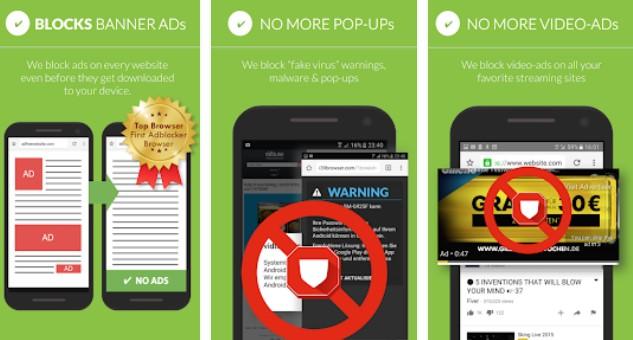 бесплатный рекламный блок adblocker и блокировщик всплывающих окон APK Android