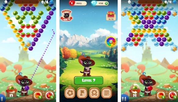 фруктовый кот поп пузырь шутер APK Android