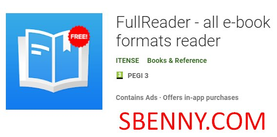 fullreader all e book formats reader