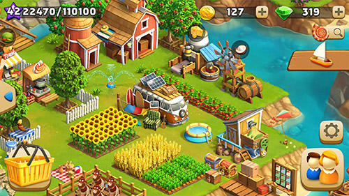 funky Bay Farm und Abenteuer Spiel APK Android