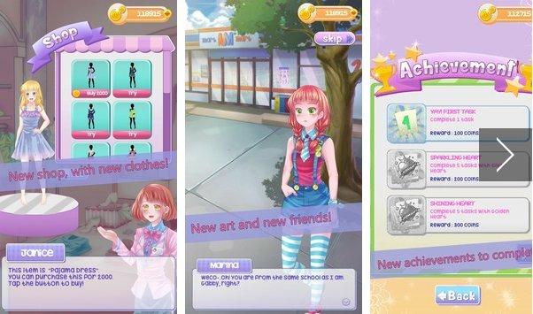 gabby s diary 2 love and dressup  APK Android