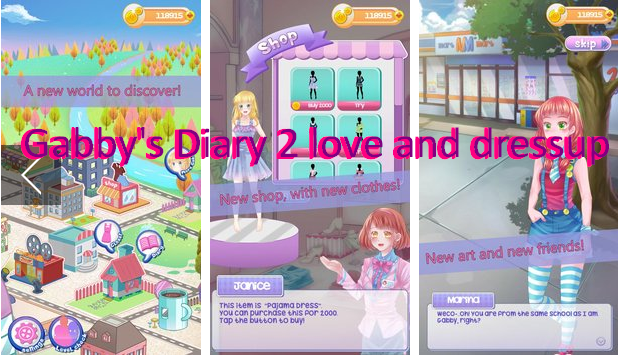 gabby s diary 2 love and dressup