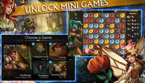 gems of war match 3 rpg APK Android