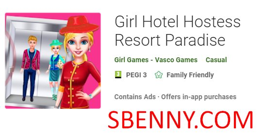 Girl Hotel Hostess Resort Paradise Unlimited Coins Mod Apk