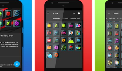 glasisches Icon-Paket APK Android