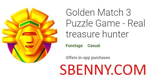 золотой матч 3 игра-головоломка настоящий охотник за сокровищами