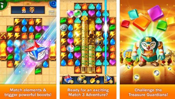 золотой матч 3 игра-головоломка настоящий охотник за сокровищами APK Android