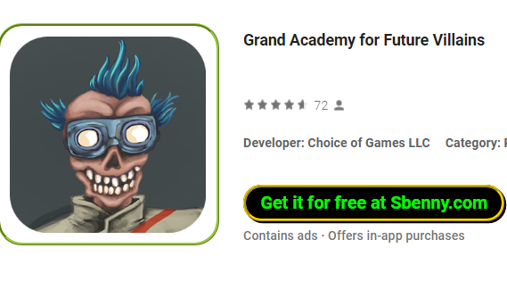 Grand Academy for Future Villains MOD APK Android Download