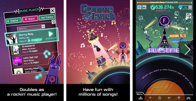 Groove Planet Beat Blaster MP3 MOD APK Android Free Download