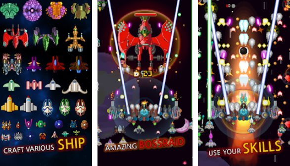 crescer nave espacial galáxia batalha APK Android