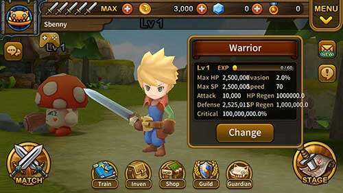 Gardien Hunter: Super Brawl RPG MOD APK Android Télécharger
