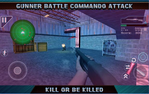 ataque artillero de batalla comando APK Android