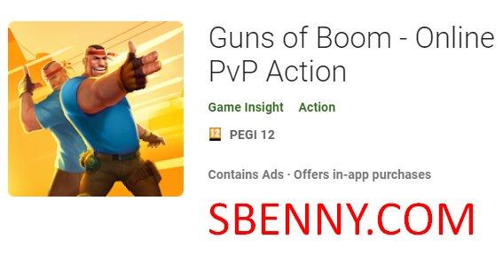 Pistolas de boom online de accion pvp.