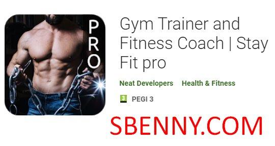 entrenador de gimnasio y preparador físico mantenerse en forma pro