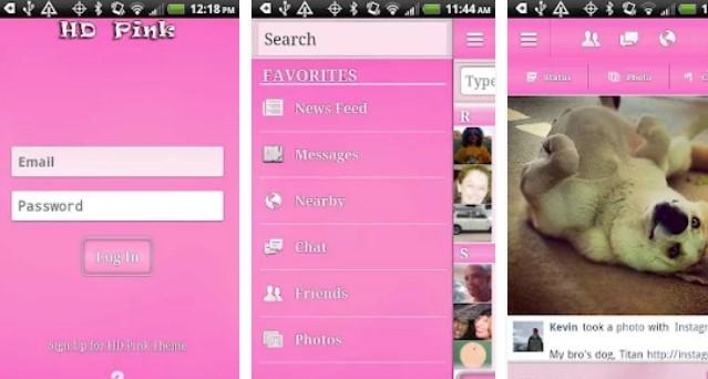 hd rosa per facebook APK Android