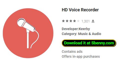 HD Voice Recorder MOD APK Android Download