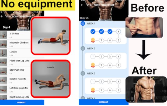 home workouts ġinnasju pro APK Android