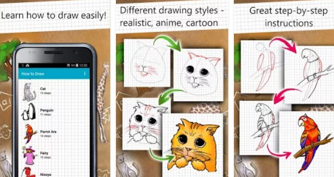 how to draw easy lessons APK ANdroid