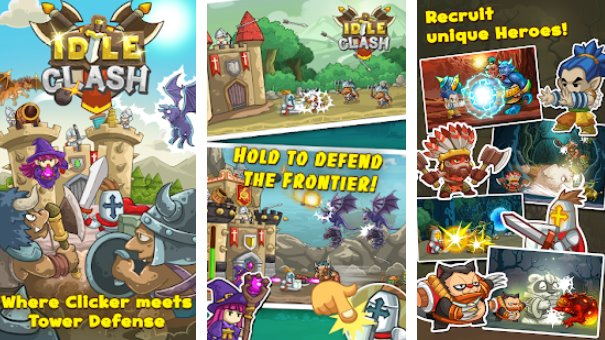 idle clash tap frontier defender