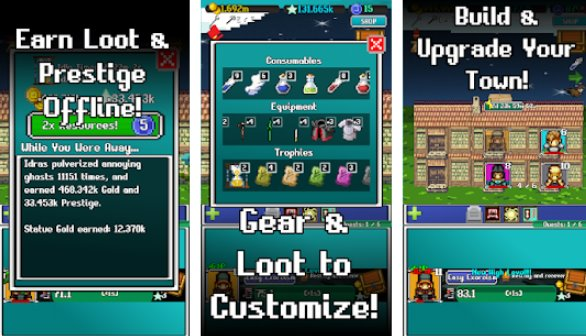 idle combat pixels clicker and retro rpg APK Android