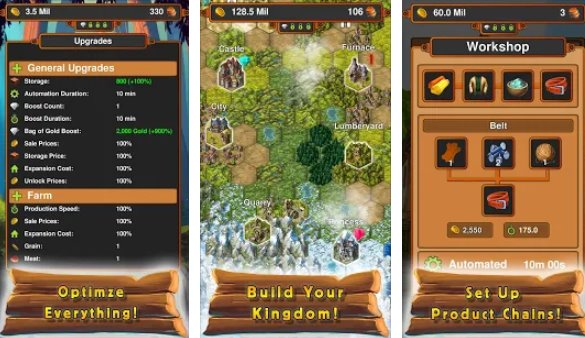 idle crafting kngdom APK Android