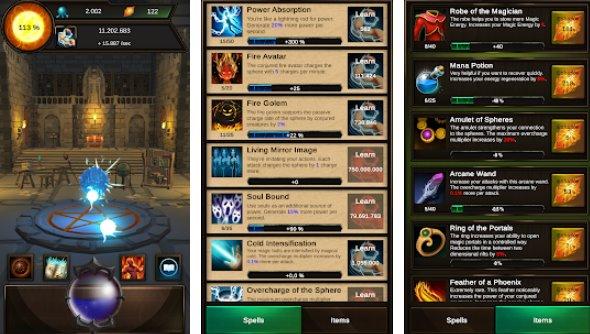 idle magic clicker un wizard tap gioco APK Android