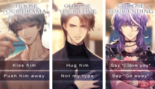 in between love and death romance you cchoose APK Android