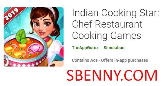 indische kochende Sternekochgaststätte, die Spiele kocht