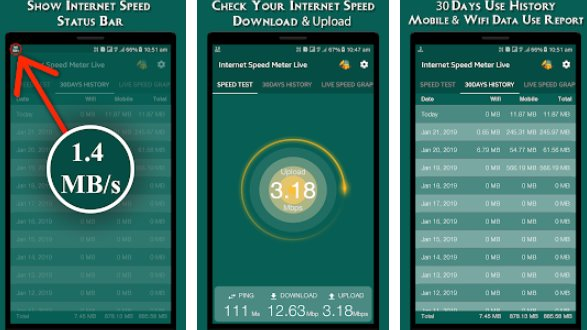 internet speed meter live APK Android