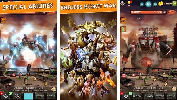 gigantes de hierro clic héroes APK Android