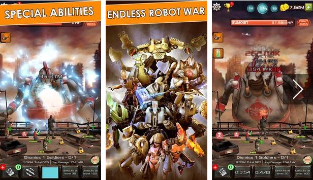 gigantes de hierro aprovechar robot juegos Android APK