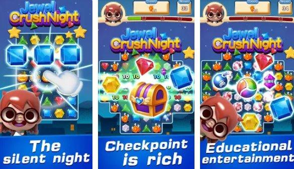 bijou écraser nuit match 3 puzzle APK Android