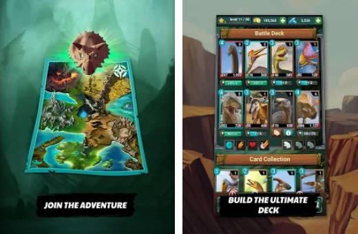 dinosaure jurassique carnivores evolution dino tcg APK Android