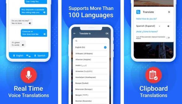 traductor de idiomas traducción gratuita voz y texto APK Android