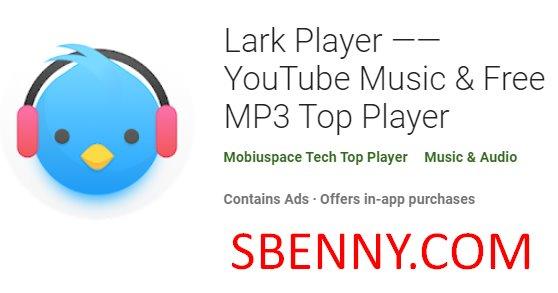 joueur d'alouette musique youtube et meilleur lecteur mP3 gratuit