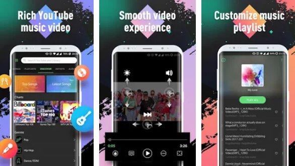 joueur d'alouette youtube musique et mp3 top player gratuit APK Android