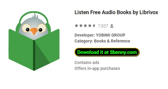 Listen Free Audio Books by Librivox MOD Android Download
