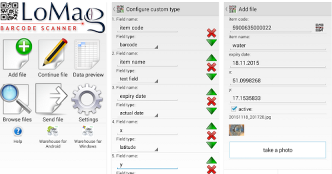 Сканер данных lomag и инвентарь APK Android
