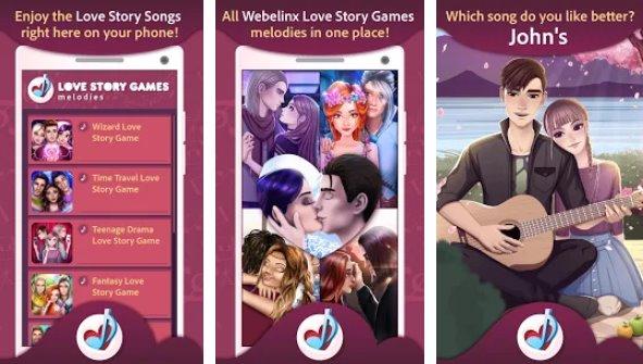 любовные истории игры мелодии APK Android