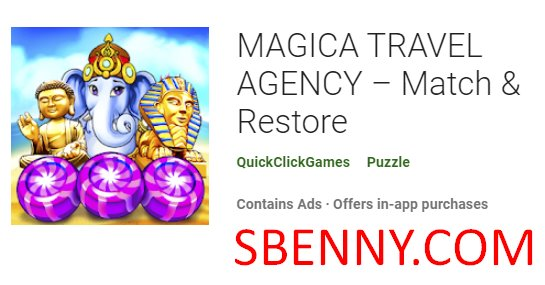 agencia de viajes magica emparejar y restaurar