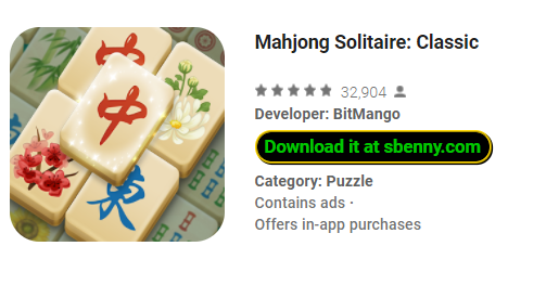 Mahjong Solitaire Classic Unlimited Money MOD APK Download