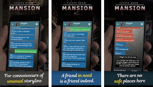 выбор особняков текстовое приключение APK Android