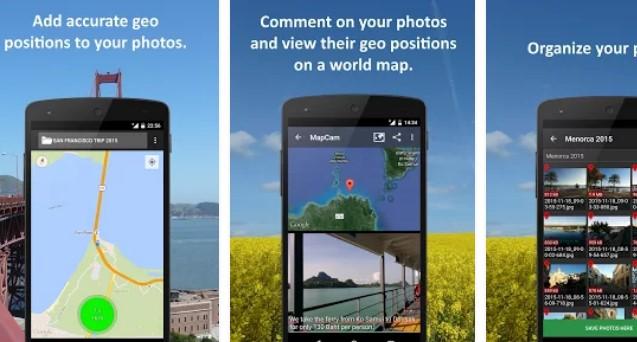 camara geográfica mapcam e colagens APK Android