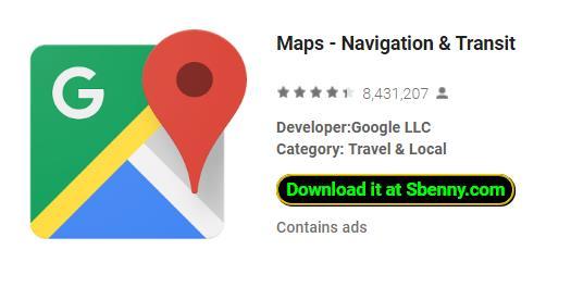 Karten Navigation und Transit