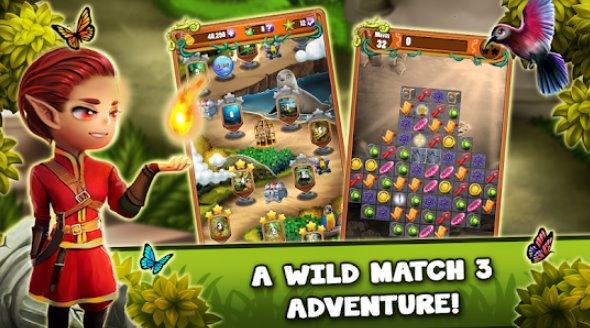 матч 3 джунгли сокровище забытые драгоценности APK Android
