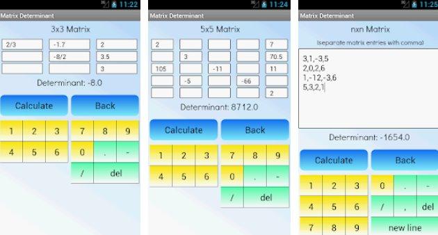 matrice déterminant pro APK Android