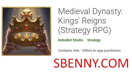 dinastía medieval reyes reina estrategia rpg